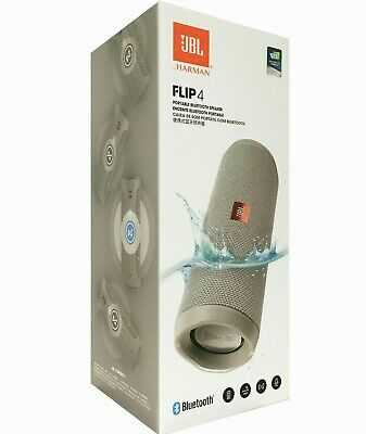 BRAND NEW - JBL Flip 4 Bluetooth IPX7 Waterproof Portable Stereo Speaker - Gray
