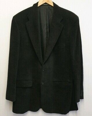 M&S Marks And Spencer St. Michael Italian Soft Black Blazer Jacket Size 44L