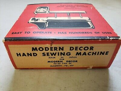 Vintage Modern Decor Hand Sewing Machine With Instruction Booklet