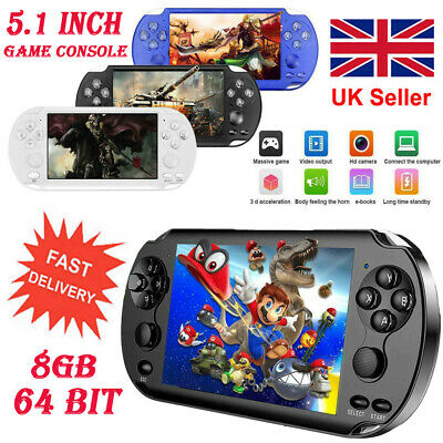 "X9-S 5.1"" 8GB 64Bit Portable Retro Handheld Game Console Video MP3 Player Camera"