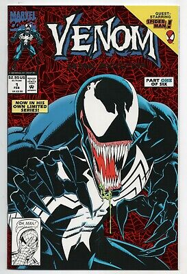 Venom Lethal Protector 1 Marvel 1993 NM Red Foil Spider-Man Mark Bagley