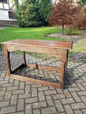 Antique 17th Century Charles II /James II Period English Oak Side Serving Table