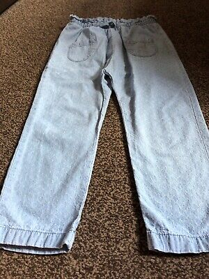 Girls Next Blue Trousers - Aged 5-6 Years - Good Condition