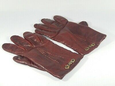 Womens  Aigner Leather S Lined Gloves
