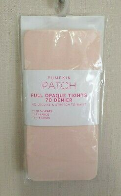 BNWT Pumpkin Patch Brand Girls 11 to 14 Yrs Opaque Pink Footed Style Tights