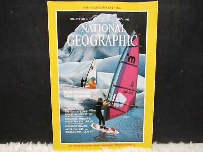 "National Geographic March 1988 ""Hello Anchorage Goodbye Dream"" Pb Magazine"