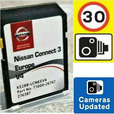 New 2019/20 Nissan Connect3 V4(Lcn3) Sat Nav Sd Card + Speed Camera Info.