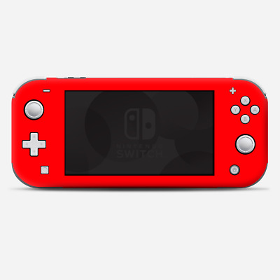 Skins Decals wrap for Nintendo Switch Lite - Solid Red color