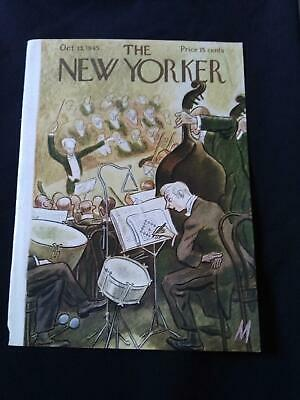 New Yorker Magazine (cover only)October 1945  Julian de Miskey Orchestra/Drummer