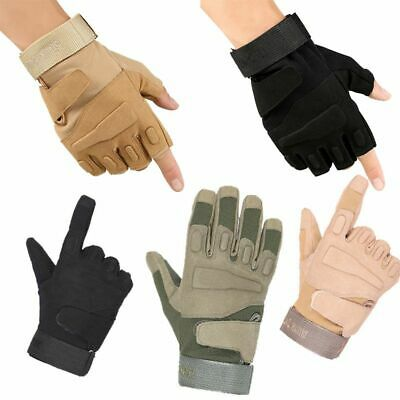 Outdoor Army Military Tactical Motorcycle Hunt Knuckle Half /Full Finger Gloves