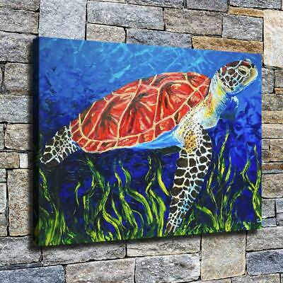 """12""""x16"""" Turtle High Definition Canvas Print Home Decoration Studio Wall Poster"""
