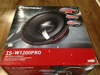 "Pioneer Ts-W1200Pro 12"" Pro Series Subwoofer Wih Dual 4 Voice Coil 1500W Max"