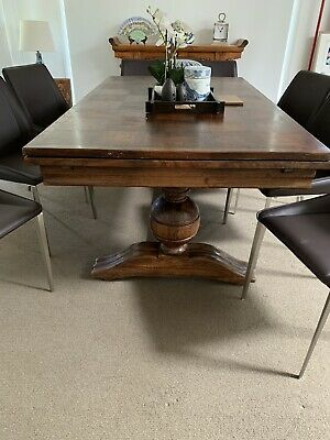 French Oak Antique extendable dining table