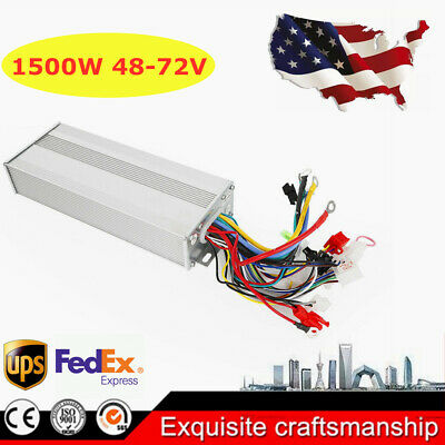 Scooter Electric Bicycle Brushless Motor Controller For E-bike DC 48/72V 1500W