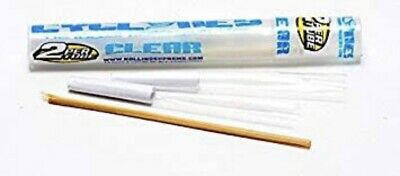 Cyclone CLEAR (Pack Of 2) Prerolled  Tubes Brand New