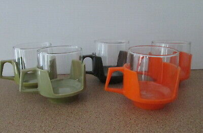 Vintage Combi-Cup Mug Cup X 5 Heat Resistant Glass JAJ Made in England