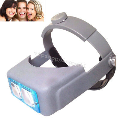 dental Jewelry Visor Head Visor Loupe Binocular Magnifier & 4 Lens Glasses CE