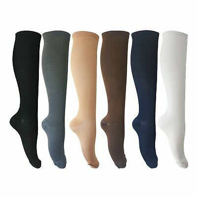 6 Pairs of Unisex Compression Socks (15-20mmHg) for Running, Nurses, S Size:L/XL