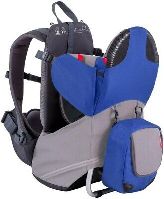 Phil & Teds Parade Backpack Baby Carrier - Blue / Grey - New Free Shipping!