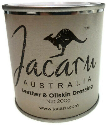 200g JACARU Waxed Cotton Reproofing Wax Leather Oilskin Dressing New