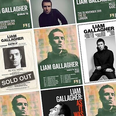 LIAM GALLAGHER Album & Tour PHOTO Print POSTER As You Were Why Me? Why Not Oasis