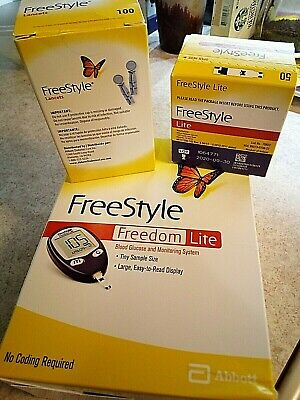 Diabetic-Freestyle Lite METER w/ 50 TEST STRIPS EXP 9/30/20 ALL Brand NEW in box