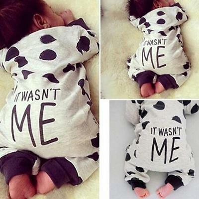 Newborn Infant Baby Boys Girls Cotton Romper Bodysuit Jumpsuit Outfits Clothes