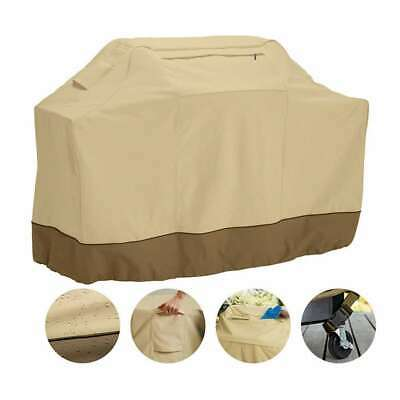 BBQ Gas Grill Cover Heavy Duty Barbecue Waterproof Outdoor Patio Weber - Beige