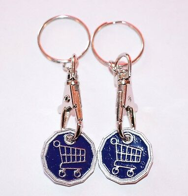 High Quality Pound Coin 2 Pack Funky Token Shopping Trolley KeyRing