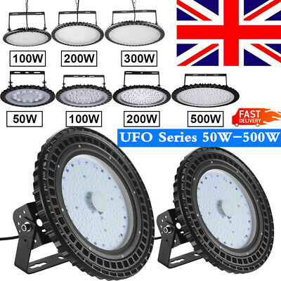 UFO LED High Bay Light 50/100/150/200/250/300/500W Factory Warehouse Gym Light