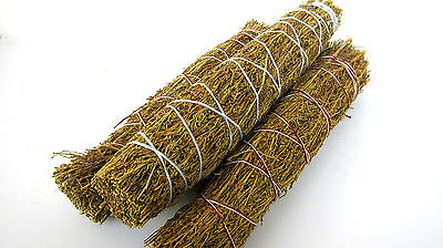 Three Desert Magic Sage Artemesia Smudge Sticks Wand 8inch Healing 3 Pack Bundle
