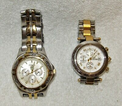 Vintage Men's Watch Lot - Fossil Blue BQ9183 Klaus Kobec KKG1913