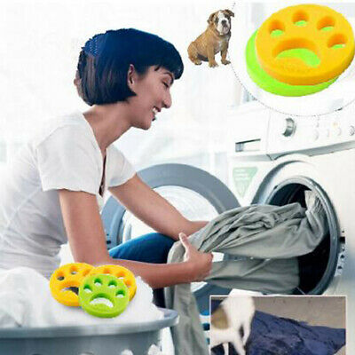 2x Pet Hair Remover Washing Machine Reusable Laundry Catcher Cleaning ProductsVT