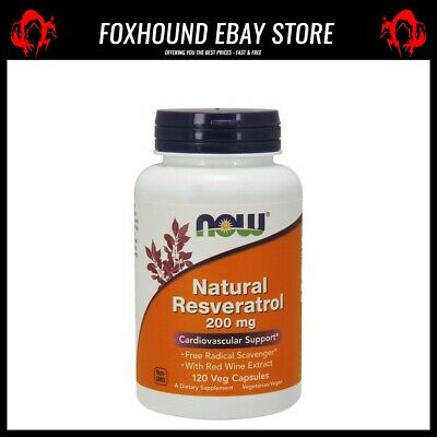 NOW Foods Natural Resveratrol with Red Wine Extract 200mg - 120 vcaps