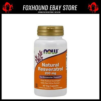 NOW Foods Natural Resveratrol with Red Wine Extract 200mg - 60 vcaps