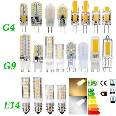 G4 G9 LED 2W 3W 5W 7W 12V/220V Dimmable COB Ampoule Remplacer Lampe Halogène