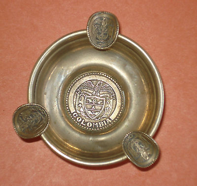 "Sterling Silver  Colombian  Ashtray ""LAMPREA ""43 g  Unique Treasure 1900-1940's"
