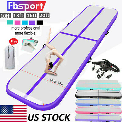 10/13/16/20FT Airtrack Air Track Floor Inflatable Gymnastics Tumbling Mat GYM US