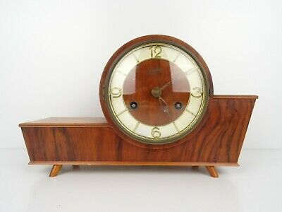 JUBA Mantel Shelf Clock Vintage DUTCH REPAIR Retro 8 day (Junghans Kienzle era)