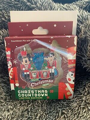 Disney Christmas 2019 Countdown Pin Toy Soldier Le 3000 Pin W/Easel/Box/Sleeve