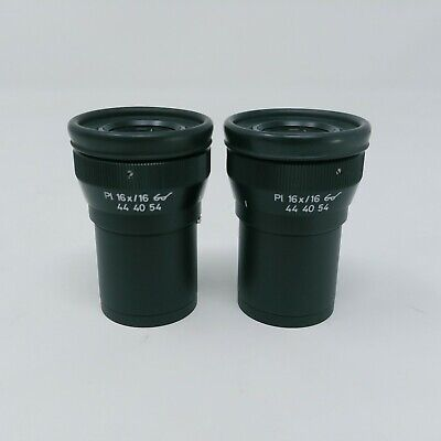 Zeiss Microscope Eyepieces Pl 16x/16 Focusing Pair 444054