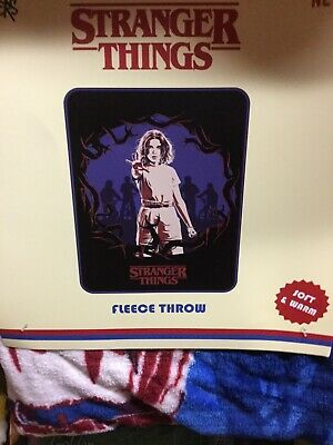 Strangers Things Fleece Throw. Brand New. 48 Inch X 60 Inch. Soft And Warm