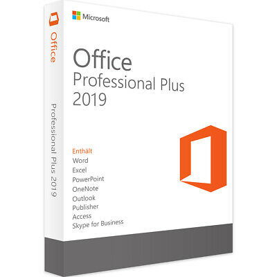 Office 2019 Professional Plus -Download & Key 32/64 Bit