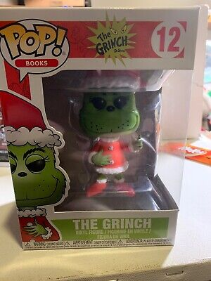 Funko POP! Books Dr. Seuss The Grinch #12 Santa Toy Figure New