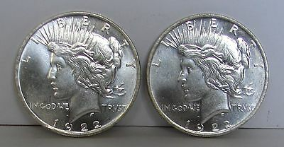 1922 / 1922  Peace Dollar Heads / Heads Magic Trick Coin Silver-Plate