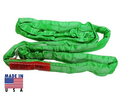 USA DOMESTIC 16' GREEN Endless Round Lifting Sling Crane Rigging Recovery