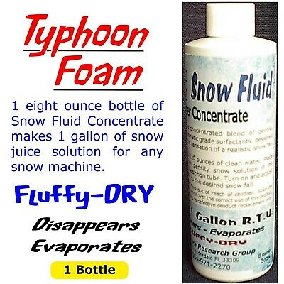 Snow Fluid Juice Concentrate MAKES 1 GAL. for any snow machine FREE SHIPPING