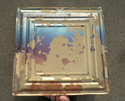 SALE!! Antique Ceiling Tin Tile Simple and Elegant Framed Canvas Iridescent Chic