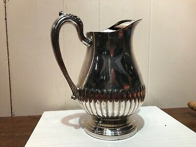 Towle Silver Plate Water Tea Lemonade Pitcher Vase Ice Guard Pedestal