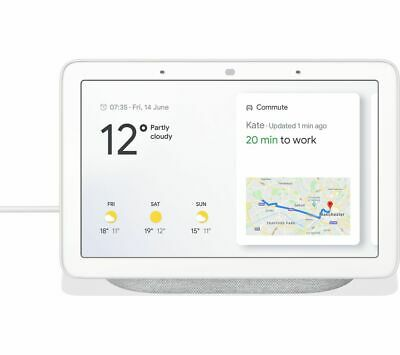 Google Home Hub Smart Home Controller with Google Assistant - Chalk 02/B49499A